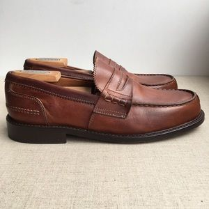 Vero Cuoio Men EU 40 Brown Leather Penny Loafers